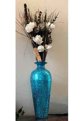 DecorShore Andalusian Turquoise Vase