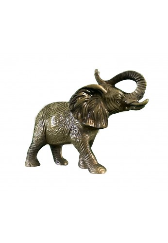 African Elephant Metal Statuette