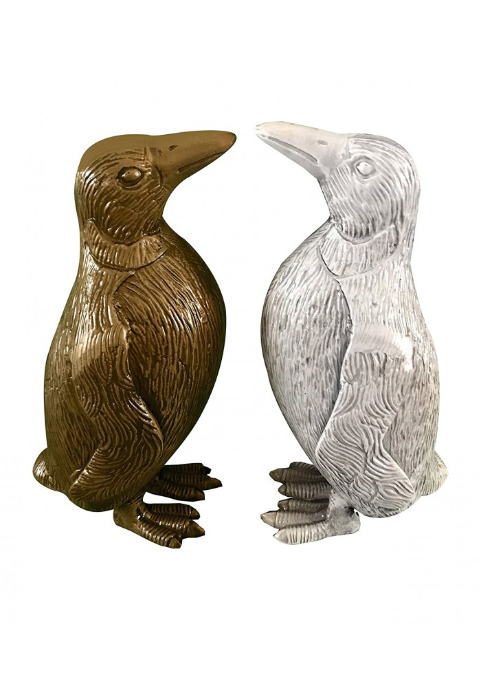 Attractive Buy Penguin Metal Statuette, Handcrafted Decorative Animal  OJ67