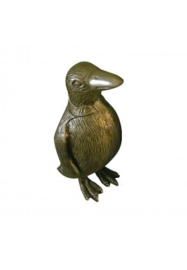 Penguin Metal Statuette, Handcrafted Decorative Animal Sculpture (Brass)