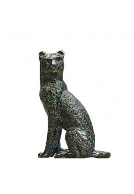 Jaguar Metal Statuette, Handcrafted Decorative Animal Sculpture, Aluminum Decorative Statue, Tabletop Decor - Study Room, Decorating Figurine, House Warming Gift