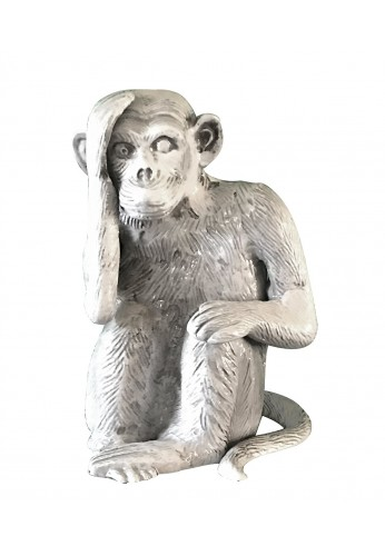 Chimpanzee / Monkey Metal Statuette, Handcrafted Decorative Animal Sculpture, Aluminum Decorative Statue, Tabletop Decor - Study Room, Décorating Figurine, House Warming Gift