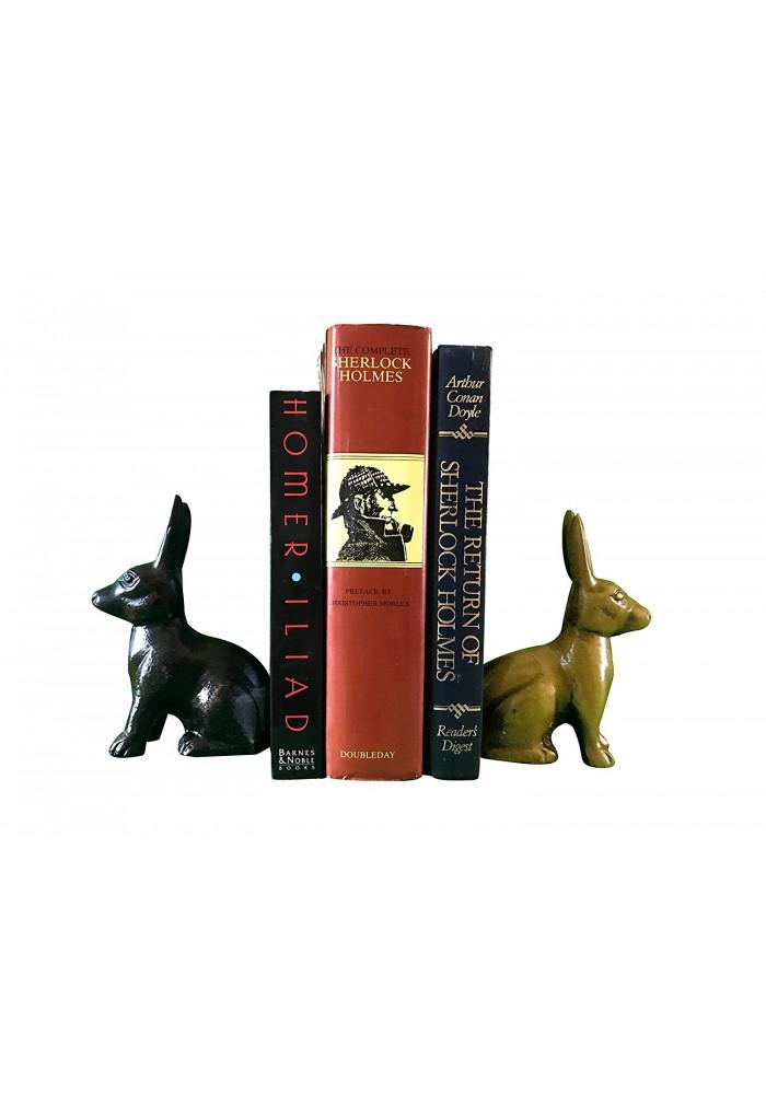 Hare / Jack Rabbit Metal Statuette, Handcrafted Decorative Animal Sculpture
