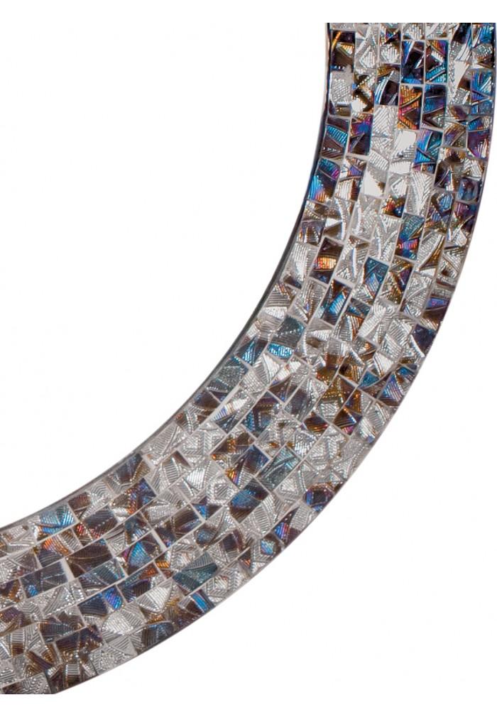 "DecorShore 24"" Decorative Mosaic Glass Wall Mirror - Silver"