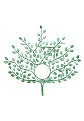 DecorShore Genesis Wall Sculpture - Tree of Eternal Life Design Metal Wall Decor in Mint Green Finish