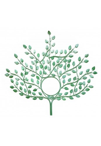 DecorShore Genesis Wall Sculpture - Tree of Eternal Life Design Metal Wall Decor in Mint Green Finish