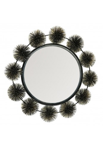 DecorShore Hadal Wall Mirror - Sea Urchin Decorative Sculpture & Mirror - Metal Wire Wall Art & Accents - Artisan Handcrafted Wall Mirrors