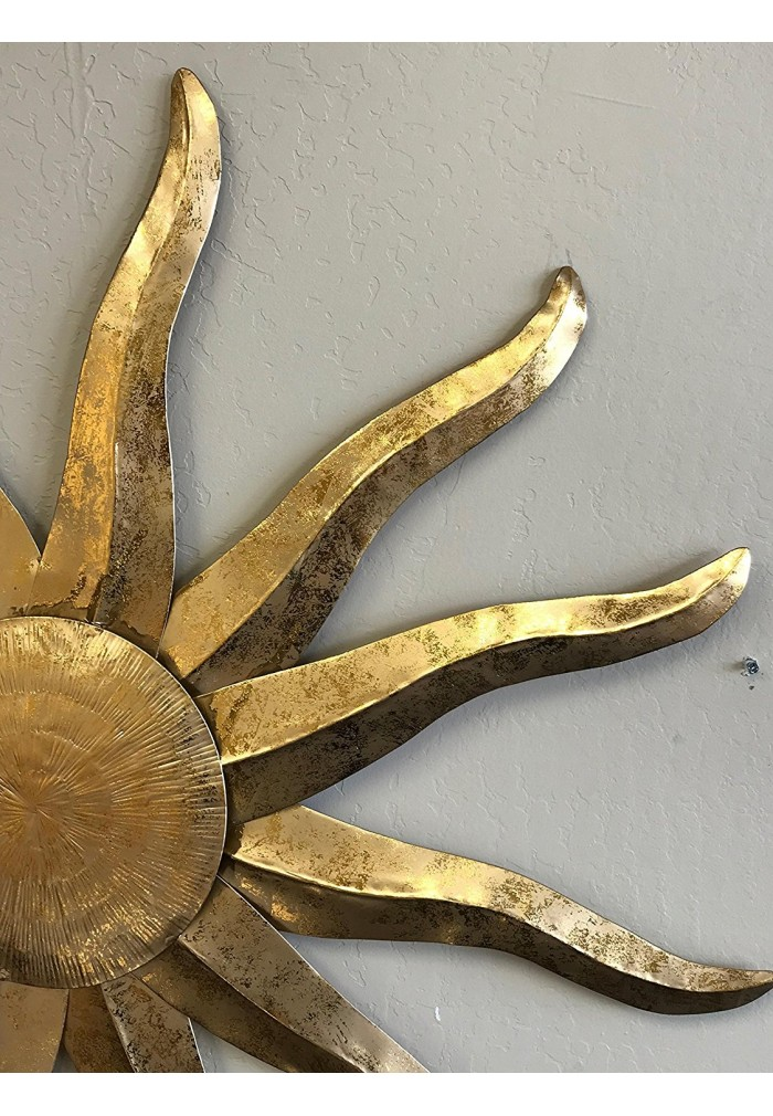 DecorShore Tribal Sunburst Wall Decor, Gold Metal Wall Art