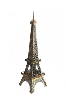 Decorative Wooden Eiffel Tower Statue
