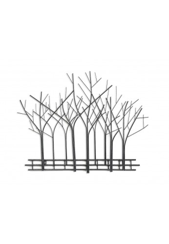 DecorShore Winter Trees Perspective Wall Sculpture, Contemporary Metal Wall Art, Artisan Handcrafted Wire Sculpture