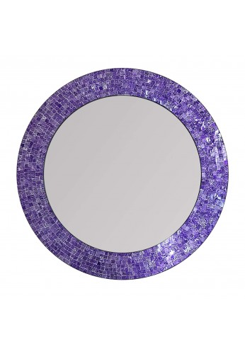 "DecorShore 24"" Mosaic Wall Mirror in Ultra Violet - Purple Decorative Wall Mirror (Ultra Violet)"