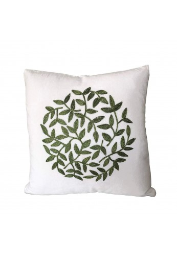 Florence 18 inch Artisanal Decorative Throw Pillow Cover - Topiary Pattern