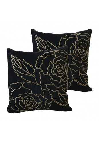 Isabella 18 inch Artisan Crafted Velvet Decorative Throw Pillow Cover