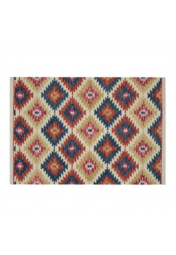 DecorShore Tribal Legends Area Rug Collection, Geometric 5'x7' 100% Wool Fiber Accent Rug (Monument Valley)