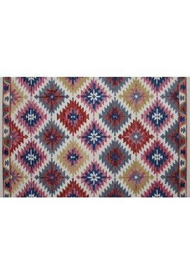 DecorShore Tribal Legends Area Rug Collection, Geometric 5'x7' 100% Wool Fiber Accent Rug (Sedona)