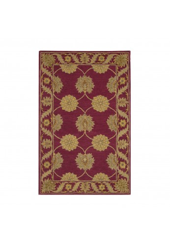 DecorShore Bella Palacio Area Rug Collection, Lavish 5'x7' Area Rug, Hand-Tufted, 100% Wool Fiber, luxury design (Ajuda Palace)