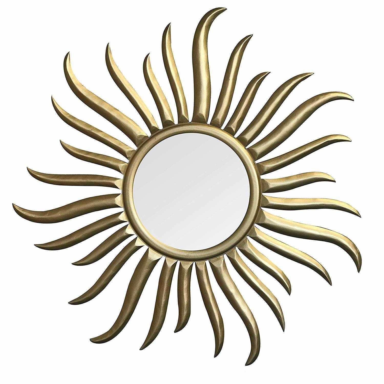 Buy 35 Inch Rococo Style Decorative Art Wall Mirror In Sunburst Shape