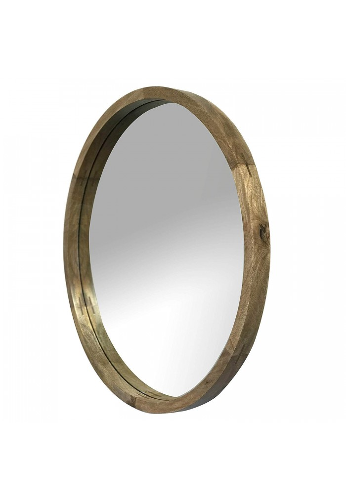 DecorShore Palisades - 28 in. Thick Wooden Frame Wall Mirror
