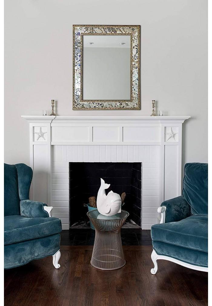 DecorShore Vanity Wall Mirror, Glamorous Silver & Gold (Mixed Metallics)