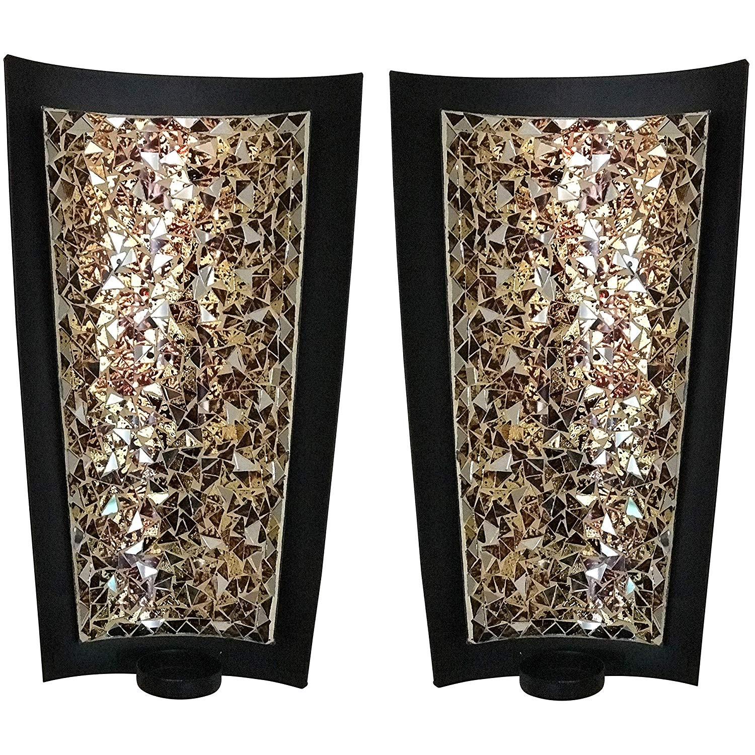 Buy Best Golden Sands 15 Inch Mosaic Wall Sconces Tealight Candle Holders