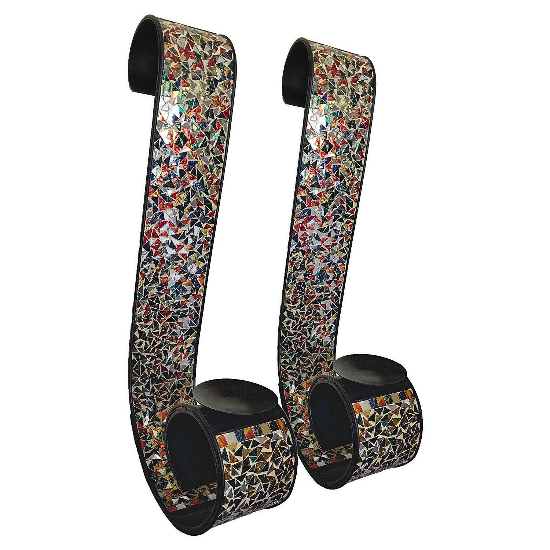 Buy Bella Palacio Metal Wall Sconce Iron Scroll Candle Holder In Gemstone Rainbow Color