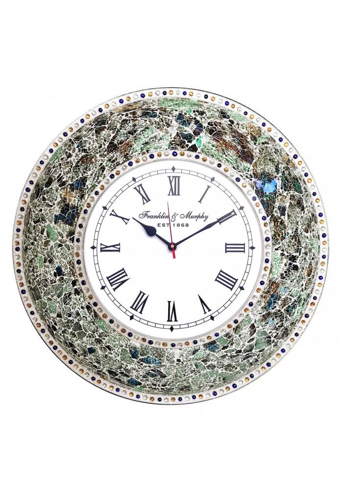 Decorshore 22 5 Quot Mosaic Wall Clock Decorative Round Wall