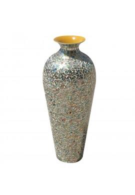 DecorShore Bohemian Rhapsody Multicolor Vase Rainbow Glass Mosaic