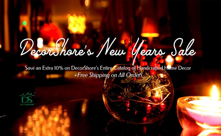 DecorShore's New Year Sale is on: 10% off on home decoration products